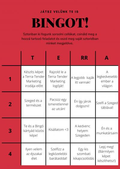 Instagram sztori bingo