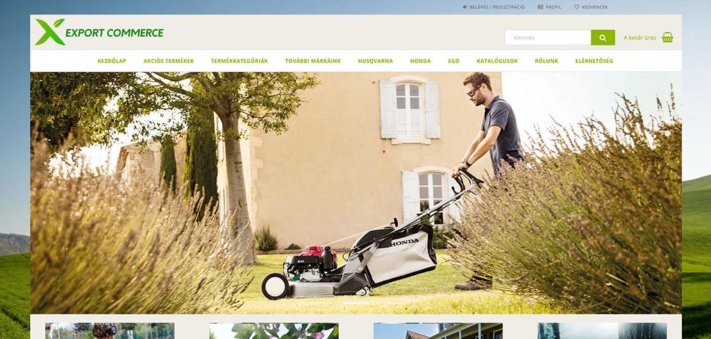 export commerce webáruház menedzsment
